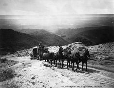 San Marcos Pass, California by William Henry Jackson