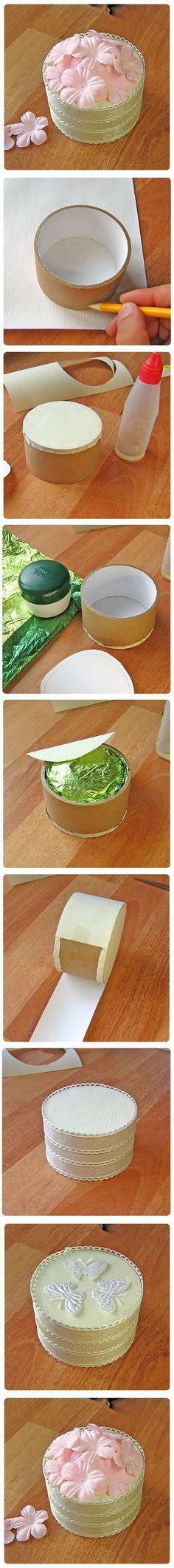 DIY Round Gift Box DIY Round Gift Box