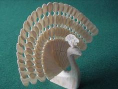 Fan Carvers World is dedicated to sharing & preserving the Old World art form of fan-carving with its symbolism throughout the many cultures that it influenced World Birds, Wooden Bird, Lost Art, Whittling, Art Forms, Old World, Peacock, Old Things, Carving