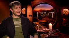 "Video Thumbnail: Martin Freeman's ""Hobbit"" Confession - sweater under a suit jacket?"