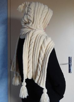 Ravelry: Project Gallery for 726 - Hooded Scarf pattern by Bergère de France