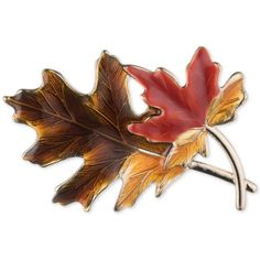 Anne Klein Gold-Tone Autumn Leaves Pin ($28) ❤ liked on Polyvore featuring jewelry, brooches, gold, multicolor jewelry, leaves jewelry, colorful jewelry, leaf jewelry and gold tone jewelry
