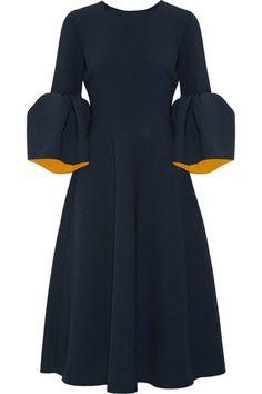 ROKSANDA Yasmin Bonded Stretch-Crepe Midi Dress. #roksanda #cloth #dresses