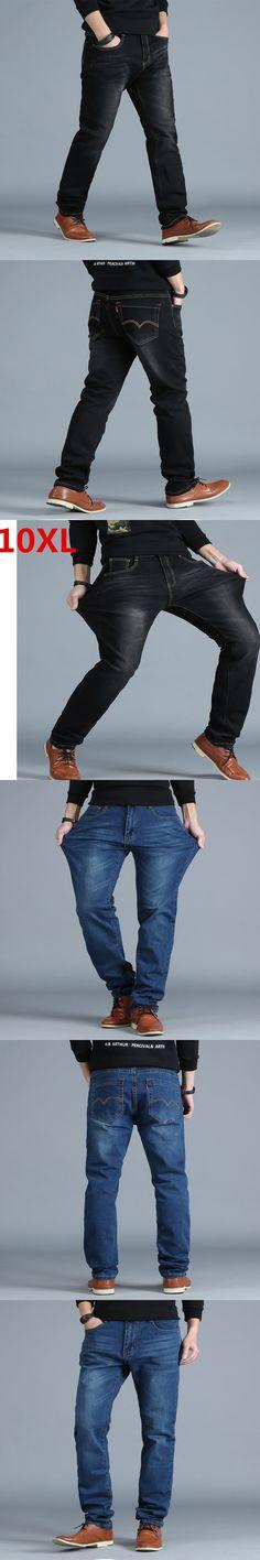 Plus size  8XL 7XL 6XL 5XL 4XL Men's Big and Tall Jeans Pants Denim Mens Loose Fit Jeans Stretch Jeans Men Washed Baggy Big size