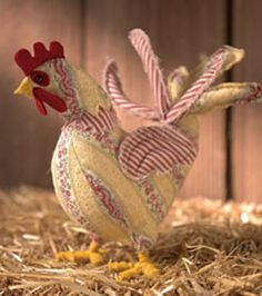 sewing roosters | Free sewing pattern for beginners to intermediates: Colorful Rooster