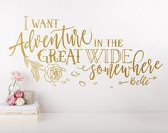 Dramatically convert the look of your living space with this cute wall decal inspired by Disneys Beauty and the Beast, giving your walls the look of a custom paint job without any of the hassle! This decal is created from my unique, original design and isnt available from any other seller, ensuring your product is one of a kind. ***ITEM DETAILS*** • Decal is available in 3 sizes: - 28 X 13 - 35 X 16.5 - 48 X 23 • See 5th preview image for available colors • Every color has a beautiful m...