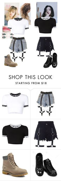 """Hit the stage #3"" by bbybjoo ❤ liked on Polyvore featuring UNIF and Timberland"