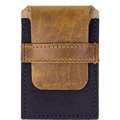 Wheelmen & Co. Card Wallet | Camel/Black Rubber