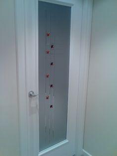 Puerta en vidrio al cido y estr a con vidrio fusing - Cristales al acido para puertas ...