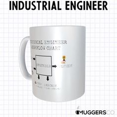 This Industrial Engineer Workflow Chart Coffee Mug makes for a funny cool gift that speaks of a person's passion for their profession. Don't sweat over the right gift! This mug is beautiful as it is durable; a great gift to give that deserving person. The universal acceptance of a coffee mug as a gift makes it a preferred gift choice, and this mug is an excellent gift for the one you want to celebrate.