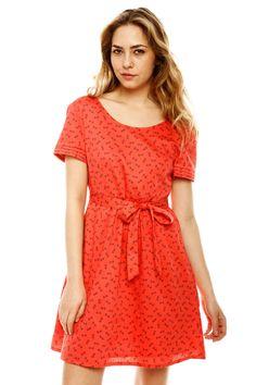 Vestido coral lindo!