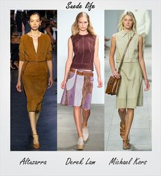 All #suede errthang! Check out more trends seen at #NYFW by following this link: http://socksnbirkenstocks.blogspot.com/2014/09/nyfw-trend-alert.html #TRENDALERT #NYFW