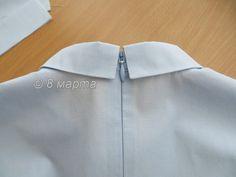 Обработка воротника со стойкой в блузке с потайной молнией