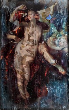 "Til the End of Time by Ingrid Dee Magidson 61 x 40"",  Figurative artwork mixed media"