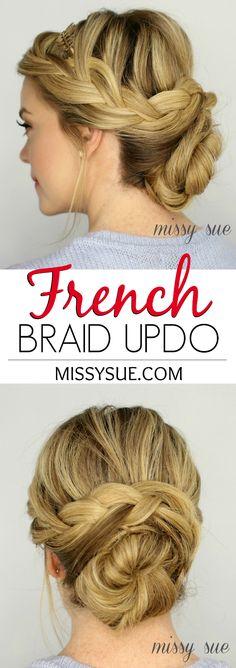 French Braid Updo