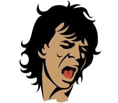 Mick Jagger Vector Portrait