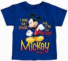 Disney Boss Mickey Toddler Boys T Shirt  Royal *** Continue to the product at the image link.