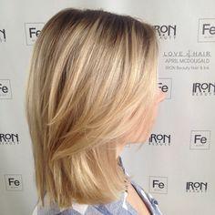 blonde hair, LOB, cute haircuts, short haircuts, blonde balayage,