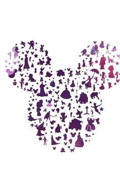 new disney character mickey ears. by studiomarshallarts on Etsy Disney Diy, Art Disney, Disney Crafts, Disney Love, Disney Vacations, Disney Trips, Disney Wallpaper, Iphone Wallpaper, Silhouettes Disney