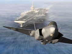 F-35 Lightning II Fighter from an Aircraft Carrier