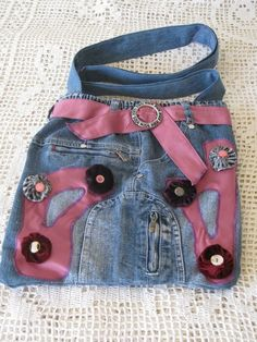 denim diy handbag