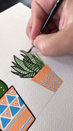 Painting a Snake Plant by Philip Boelter I created five potted plants for this art piece Click the video to see the final full length video that completes this compositio. Painting & Drawing, Cactus Painting, Plant Drawing, Gouache Painting, Painting Videos, Plant Painting, Hope Painting, Snake Painting, Plant Art