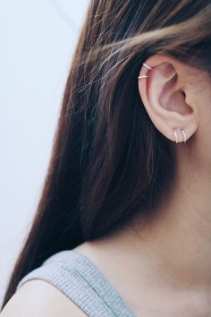 8mm & 10mm Hoop Earrings Cartilage Hoop by happylittledainty