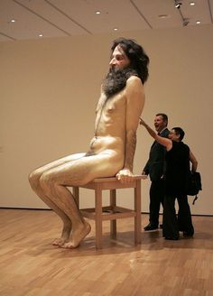 sculpture by Ron Mueck. wow!