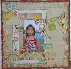 Summer layout for Right at Home Scrapbooking using Simple Stories products! Love this collection!!