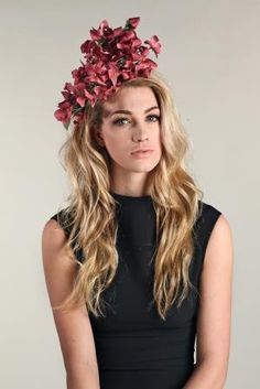 Believe it or not, this is a simple, wired headpiece. Five branches of rambling roses. Each flower is hand cut, hand shaped and hand stitched (no glue!) onto the covered wire. Totally balanced and really comfortable. Hand Shapes, Headpiece, Spring Summer, Long Hair Styles, Branches, Roses, Wire, Beauty, Flower