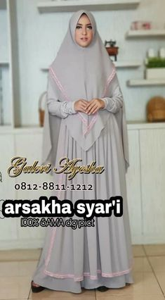 Gamis Pesta Syar'i Arsakha Syari Dress (Ready Stock Dan Made By Order) Hijab Fashion, Women's Fashion, Hijabs, Dresses, Teepees, Hijab Outfit, Vestidos, Fashion Women
