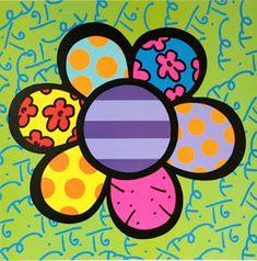Flower pop-art by Romero Britto Pintura Graffiti, Graffiti Painting, Diy Painting, Graffiti Art, Famous Pop Art, Famous Artists, Modern Pop Art, Paintings Famous, Art Plastique