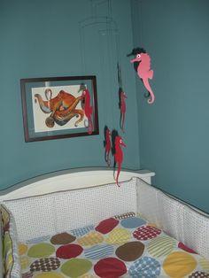 Nursery - cute bedding for alphabet decor