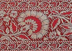 Brocade Metallic Jacquard Trim New Sari Border 4 Yards Burgundy Fabric | eBay