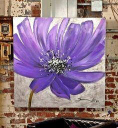 Cuadros Modernos 100x100 Abstractos Flores Tripticos - $ 3.119,99