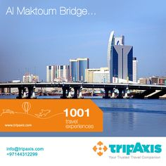 Al Maktoum Bridge, inagurated in 1963, was the first bridge in Dubai. This bridge enabled people to cross from Bur Dubai to Deira, & vice versa, without using a boat ferry or going all the way around Dubai Creek.  It is one of five crossings on the creek and is amongst the most used bridges in Dubai.   For more tips, like our Facebook page or give us a call on  +97144312299