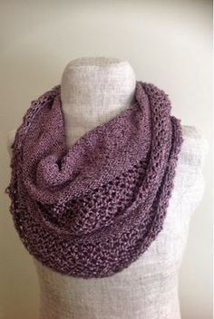 Undeniable Glitter: Lacy Infinity Scarf 9 Circular Knitting Needles Yarn Weight: Worsted Weight 2 skeins