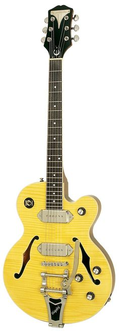 Epiphone Wildkat Archtop Electric Guitar, Bigsby Vibrotone Hardware, Antique Natural: Musical Instruments
