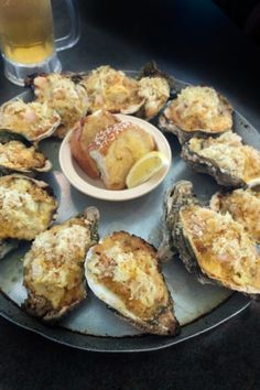 Oysters Supreme is a regal dish focused on fresh Louisiana seafood. - Bubbling hot off the grill, this Cajun recipe for Oysters Supreme is superb. Fish Dishes, Seafood Dishes, Fish And Seafood, Seafood Platter, Cajun Recipes, Seafood Recipes, Cooking Recipes, Sushi Recipes, Baked Oyster Recipes