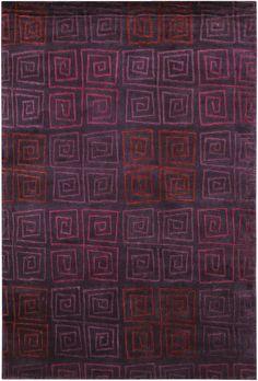 modernrugs.com Modern Pokhara Serpentine Plum Tibetan  Purple Rug