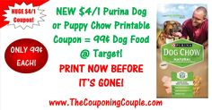 ***HUGE NEW $4/1 Purina Dog or Puppy Chow 3.8lb+ Coupon ~ PRINT NOW*** Purina Dog Chow Natural ONLY 99¢ each at Target or score a great DEAL at your Favorite store! Click the Picture below to get all of the details ► http://www.thecouponingcouple.com/purina-dog-chow-natural-printable-coupon/  Use the SHARE button below the Picture to SHARE this Deal with your Family and Friends!  #Coupons #Couponing #CouponCommunity  Visit us at http://www.thecouponingcouple.com fo