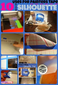 Silhouette School: 10 Ways Painters Tape Makes Silhouette Crafting Easier