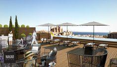 Rooftop pool with sea views | Nakar Hotel  #designhotels #lifestylehotels #mediterranean  #pool #rooftop