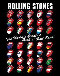Flyer Goodness: Art of the Rolling Stones: Posters and Flyers Designed by John Pasche & Rolling Stones Tattoo, Rolling Stones Logo, Rock Posters, Concert Posters, Music Posters, The Roling Stones, Rollin Stones, Stone Wallpaper, Fan Art