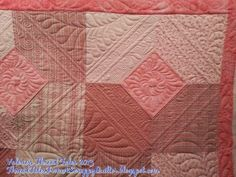 Thread Tales from a Scrappy Quilter: Another 10 Minute Block quilt, quilted by Valerie