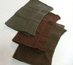 Dishcloth Knit in Cotton by The Needle House Lt Brown Marl, Fig and Peat $12.00