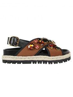 espadrille Fussbett sandals - Brown Marni aGkEQ3B
