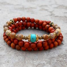 108 bead wood and jasper wrap bracelet or necklace by #lovepray #jewelry