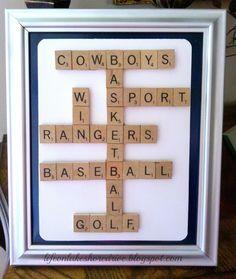 Life on Lakeshore Drive: Scrabble Sports Frame & Baseball Wreath