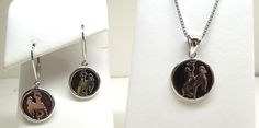 Sterling silver Wyoming bucking bronco pendant and matching earrings. Also comes in a charm.